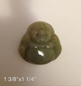 Chinese Carved Jade Buddha Pendant
