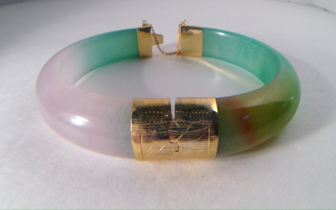 CHINESE JADE BRACELET WITH CLASP - 3