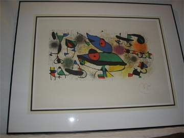"JOAN MIRO ""SCULPTURE I"" SIGNED LITHO, CoA"