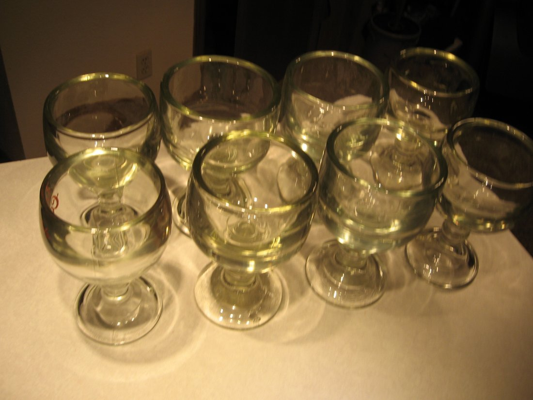 8 Chalice/Tankard style beer glasses - VINTAGE- RARE &