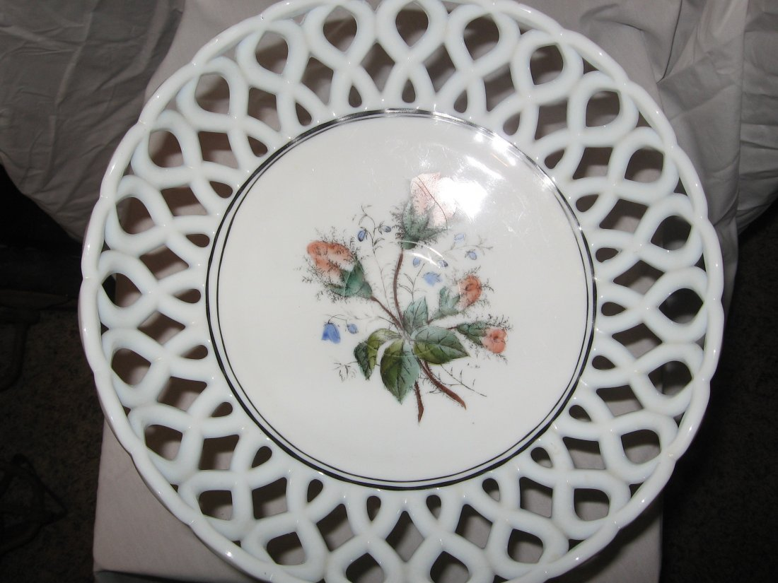MILK GLASS COMPOTE DISH - VERY RARE!