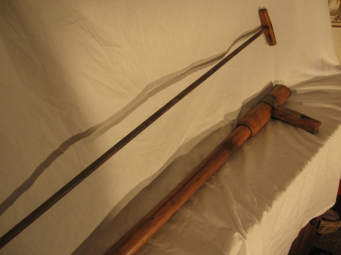 FIREMAN'S HAND PUMP - WOOD - EXTREMELY RARE! - 4