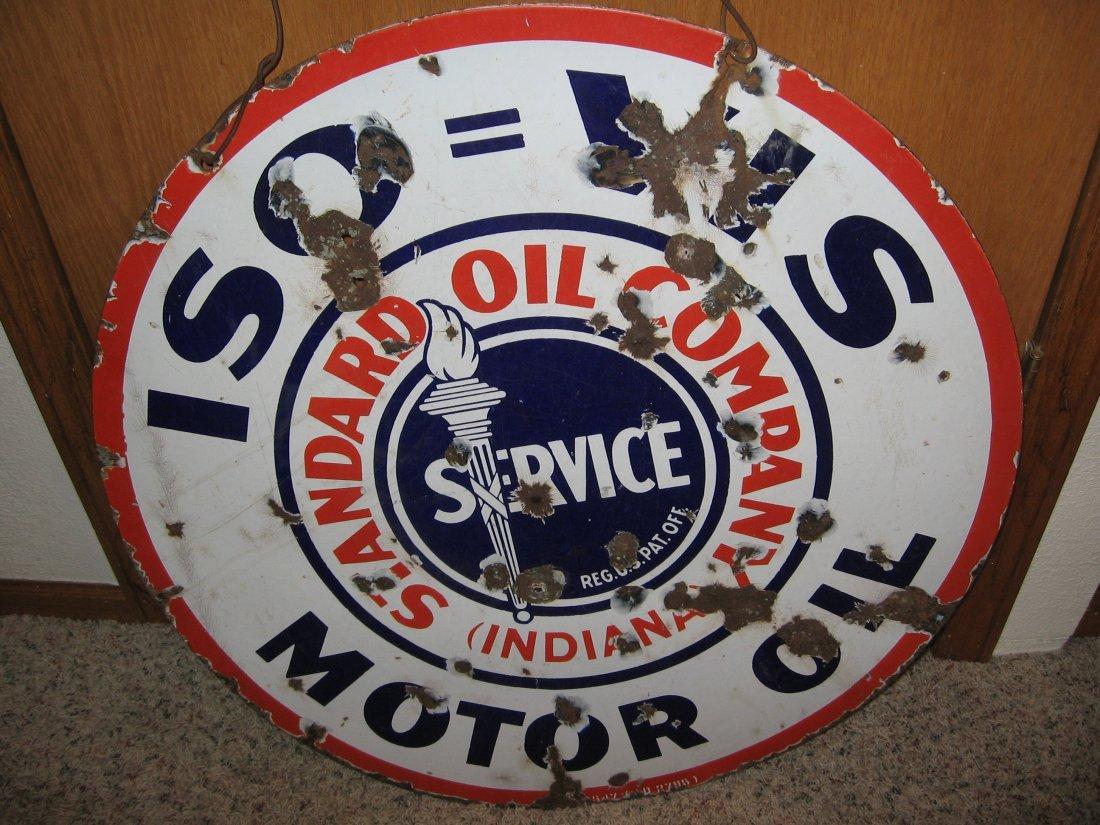 STANDARD OIL COMPANY - ISO-VIS MOTOR OIL SIGN