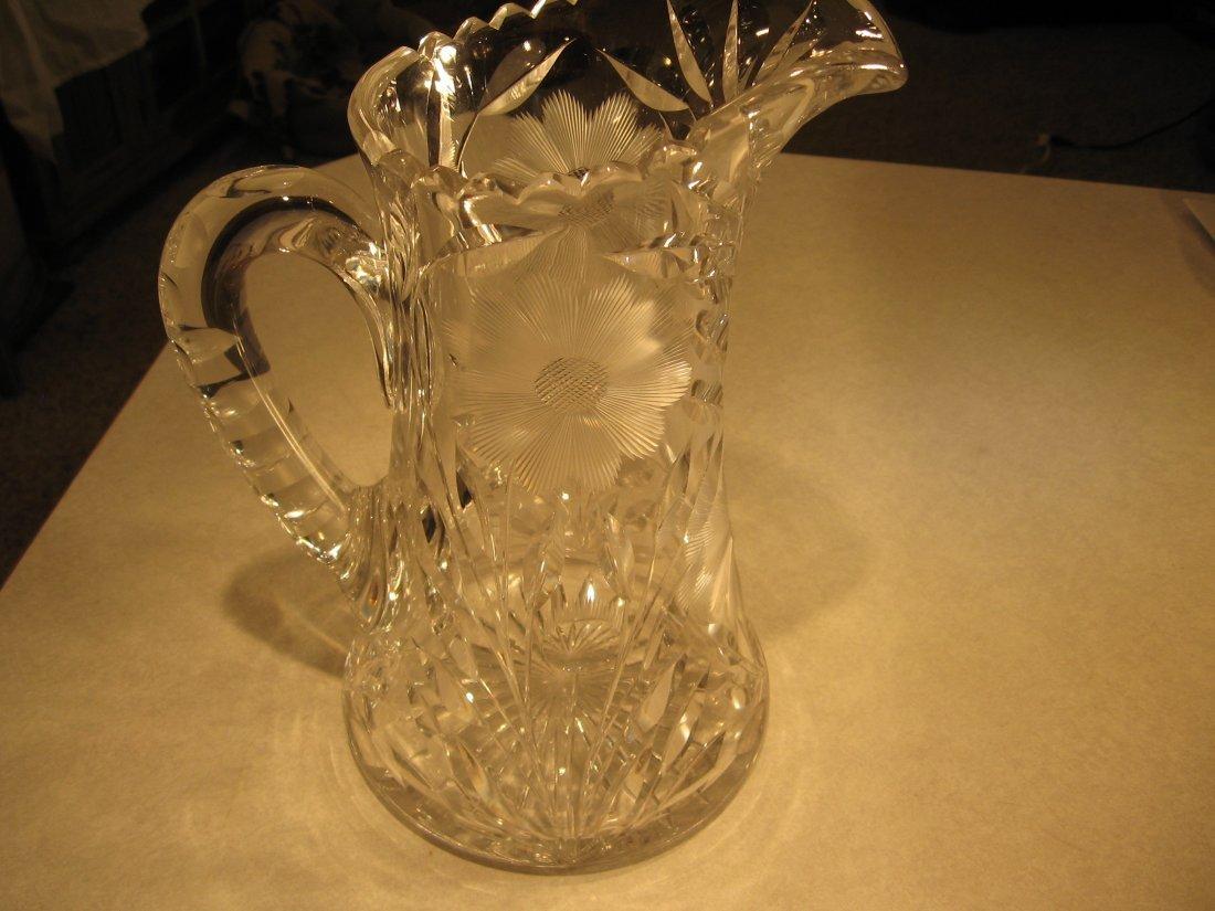 TIFFANY CUT GLASS PITCHER (circa 1910)