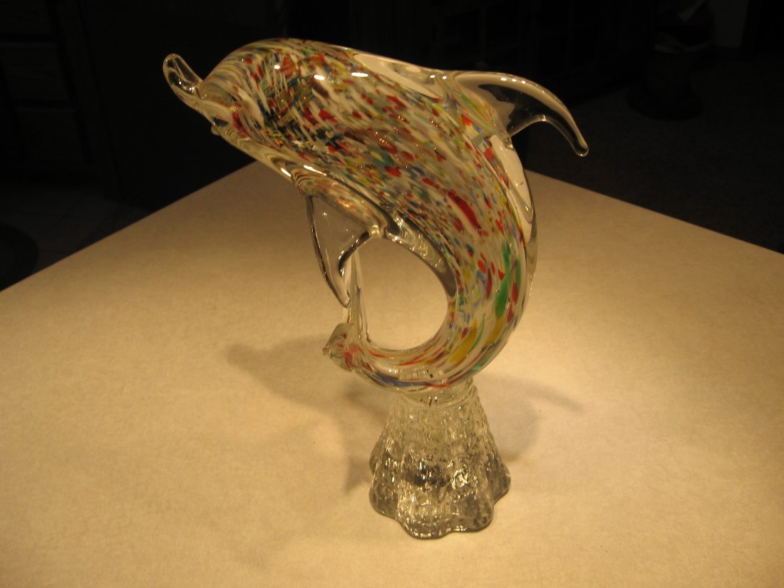 DOLPHIN SCULPTURE - MURANO GLASS