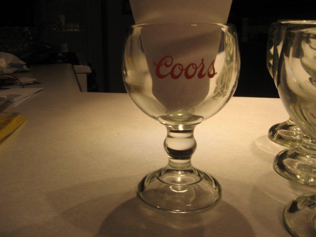 8 Chalice/Tankard style beer glasses - VINTAGE- RARE &