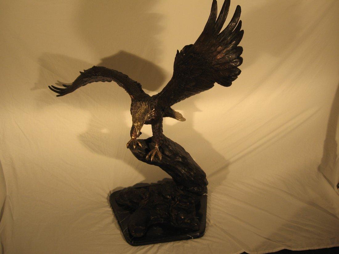 EAGLE SCULPTURE - BRONZE- 4 FEET TALL (2008)