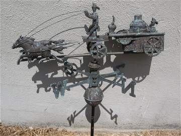 WEATHERVANE - FIRE WAGON/HORSES/FIREMEN