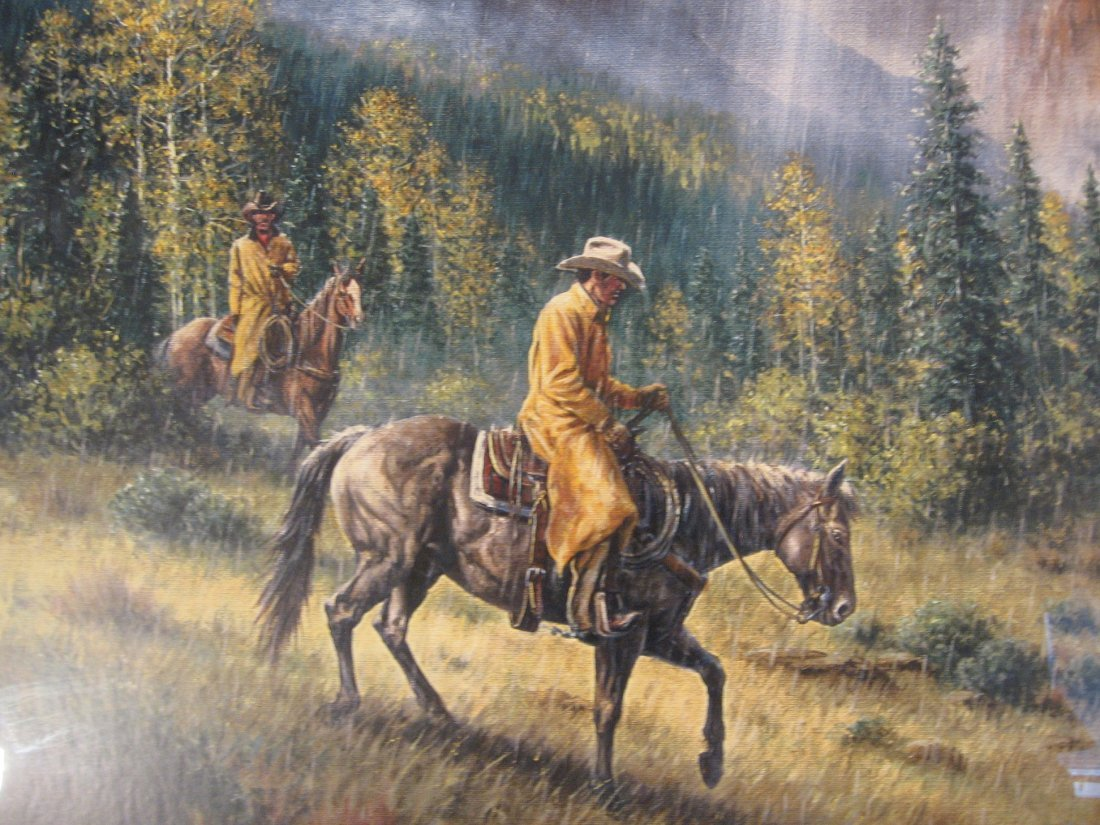 "JACK TERRY ""COWBOYS IN THE RAIN"" LITHOGRAPH - 2"