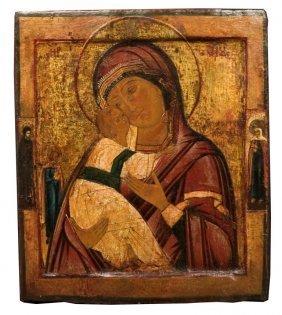 Mother Of God Of Vladimir, School Of Saint Petersburg.