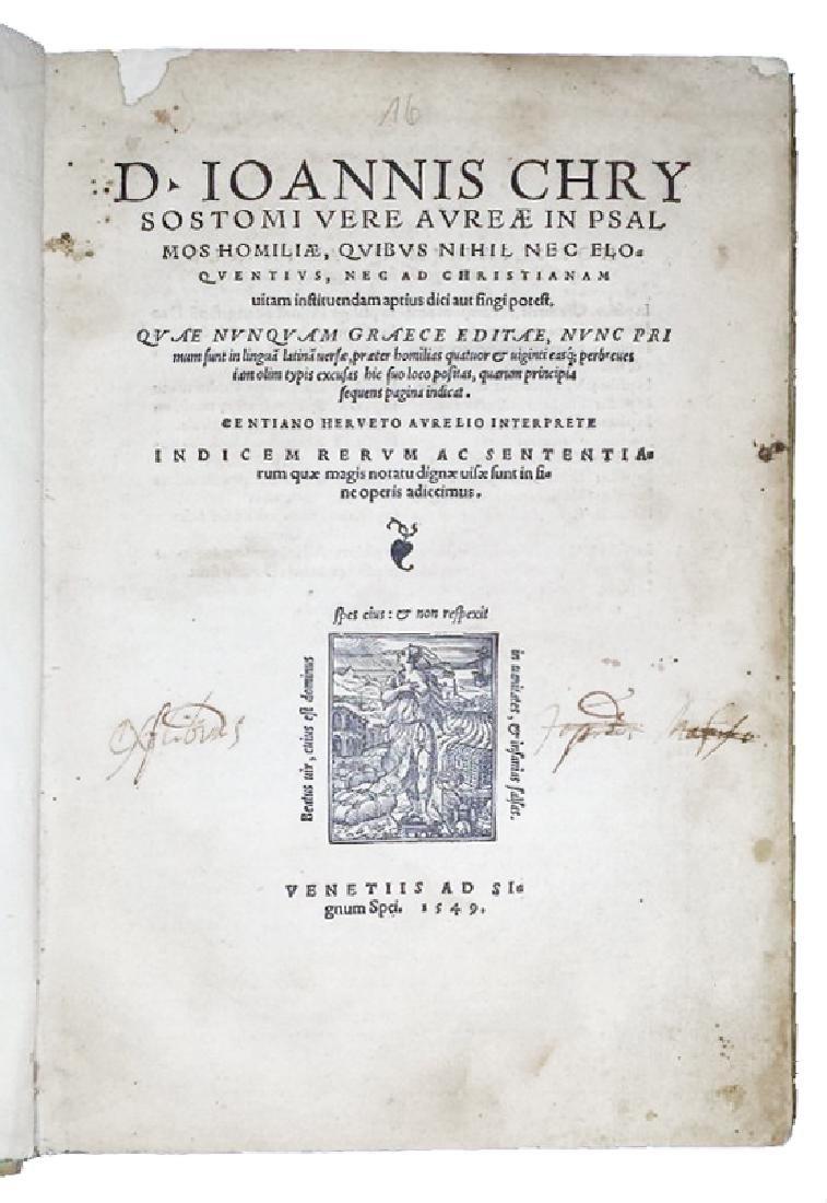 [Greek literature, Homilies] Chrysostom, 1549 - 2