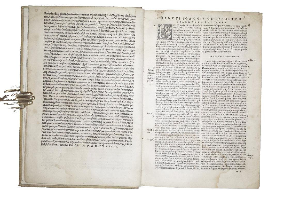 [Greek literature, Homilies] Chrysostom, 1549 - 3