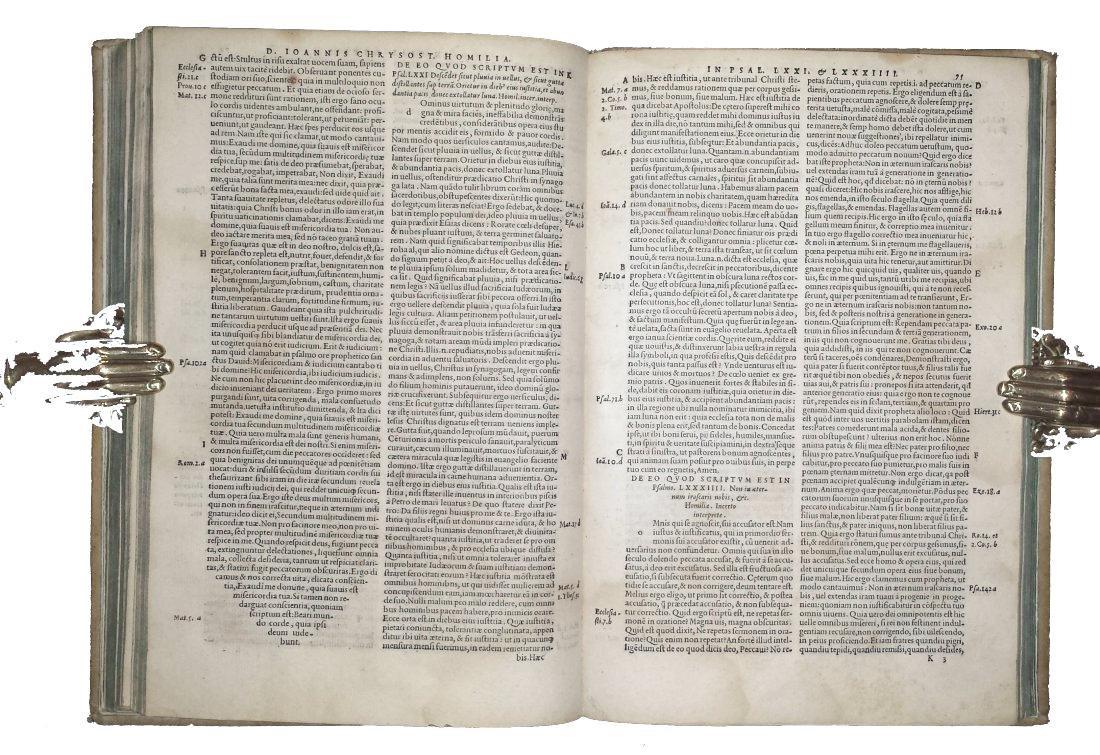 [Greek literature, Homilies] Chrysostom, 1549 - 4