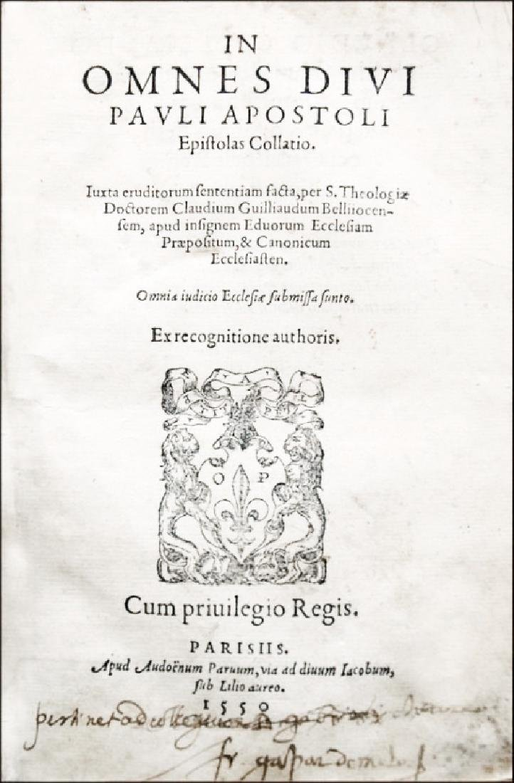 [St. Paul's Letters] Paulus, Epistolae, 1550