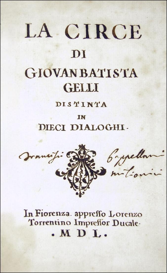 [Philosophy, Dialogues] Gelli, La Circe, 1550