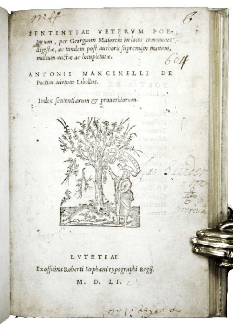 [Ancient Poetry, Aphorisms] Maior, Sententiae, 1551