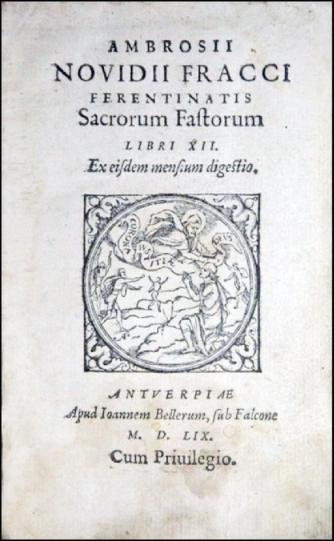 [Renaissance Roman Feasts, Poetry] Fracco, 1559 - 2