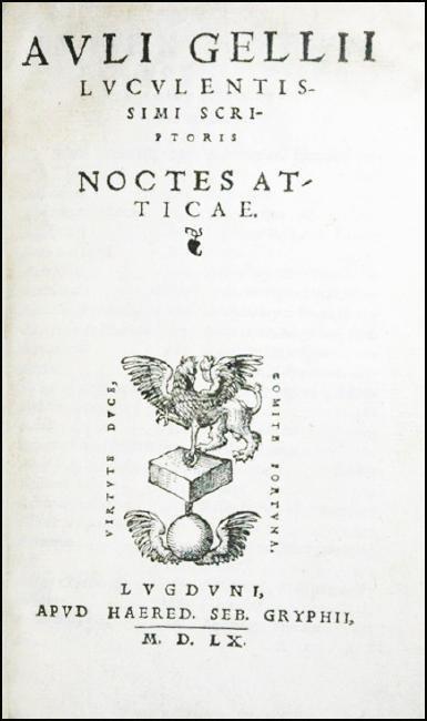[Roman History, Encyclopedia] Gellius, 1560 - 2
