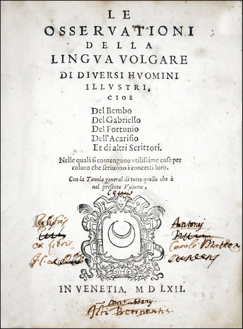 [Italian Language] Sansovino, Osservationi, 1562