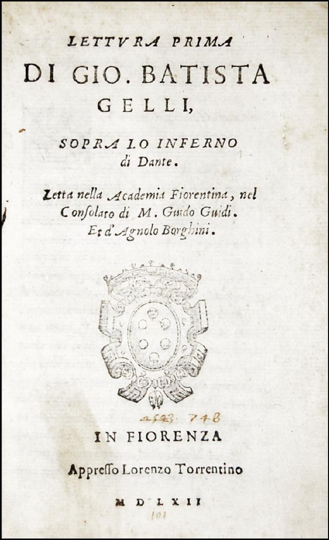 [Dante, Divine Comedy] Gelli, Lettura prima, 1562