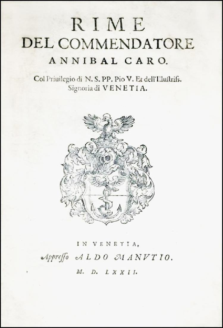 [Poetry, Aldus] Caro, Rime, 1569