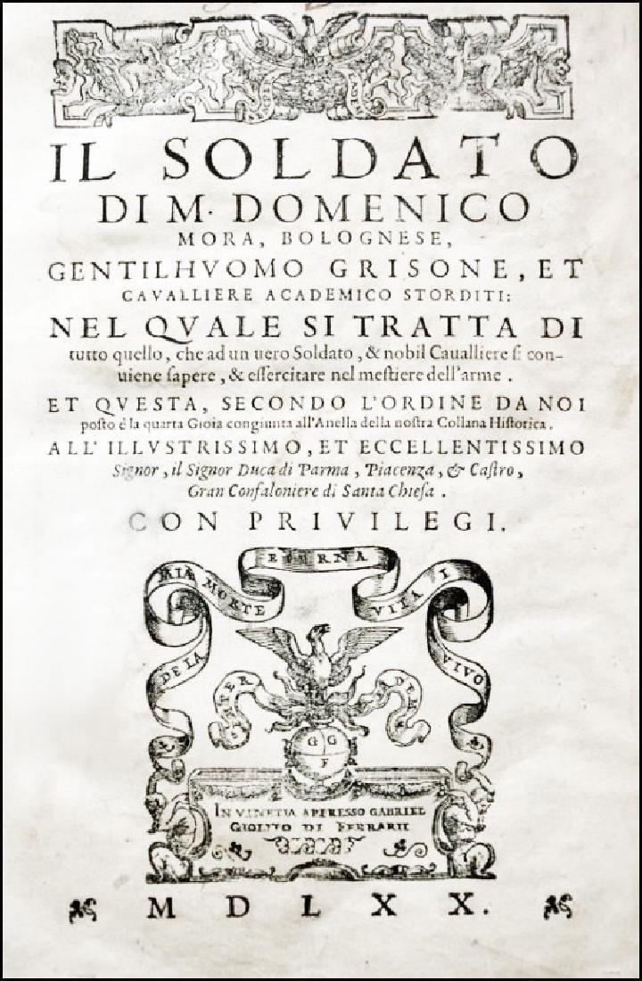 [War, Soldier's Training] Mora, Il Soldato, 1570