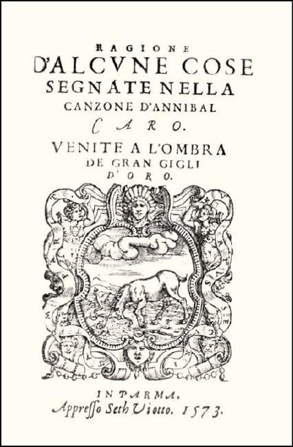 [Literary quarrels, Poetry] Castelvetro, 1573 - 2