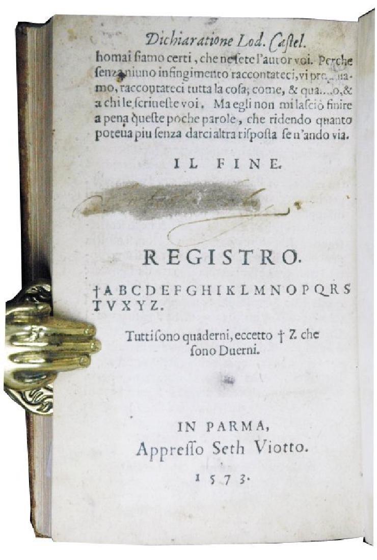 [Literary quarrels, Poetry] Castelvetro, 1573 - 8