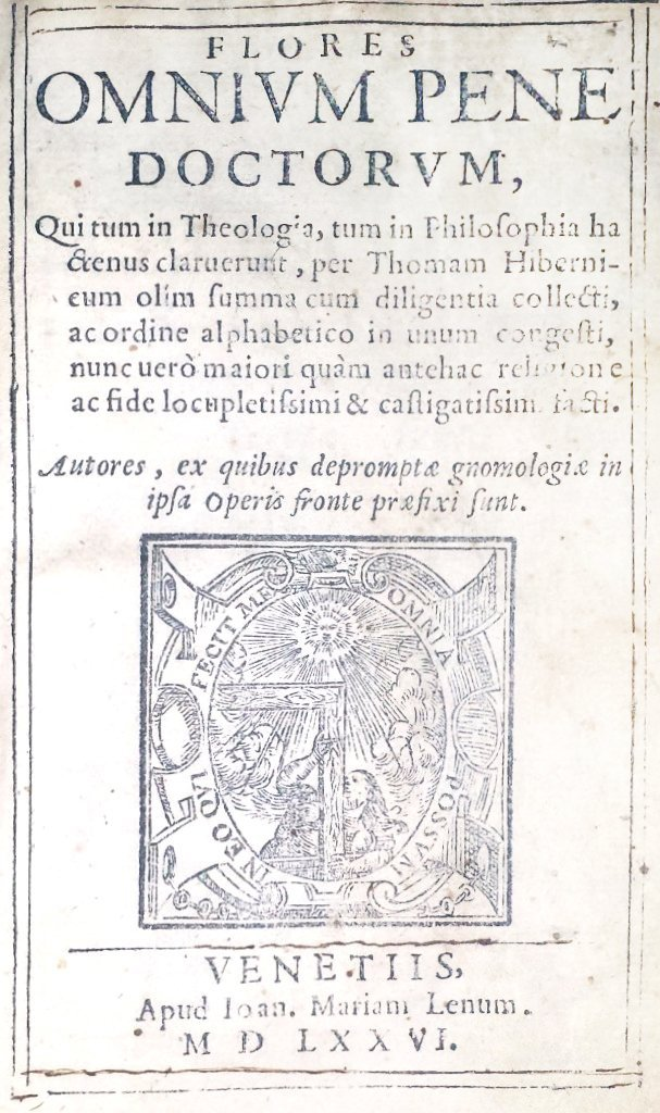 [Philosophy and Theology, Anthology] Hibernicus, 1576