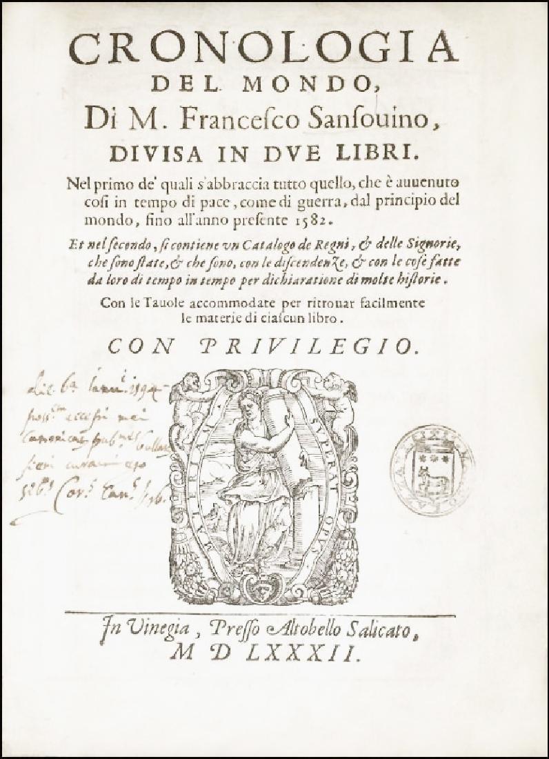 [World Chronicle] Sansovino, 1582