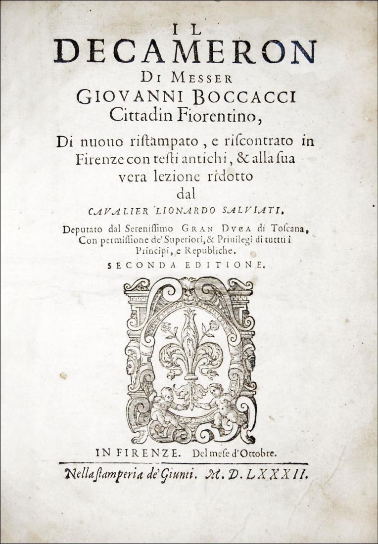 [Tales] Boccaccio, Il Decameron, 1582