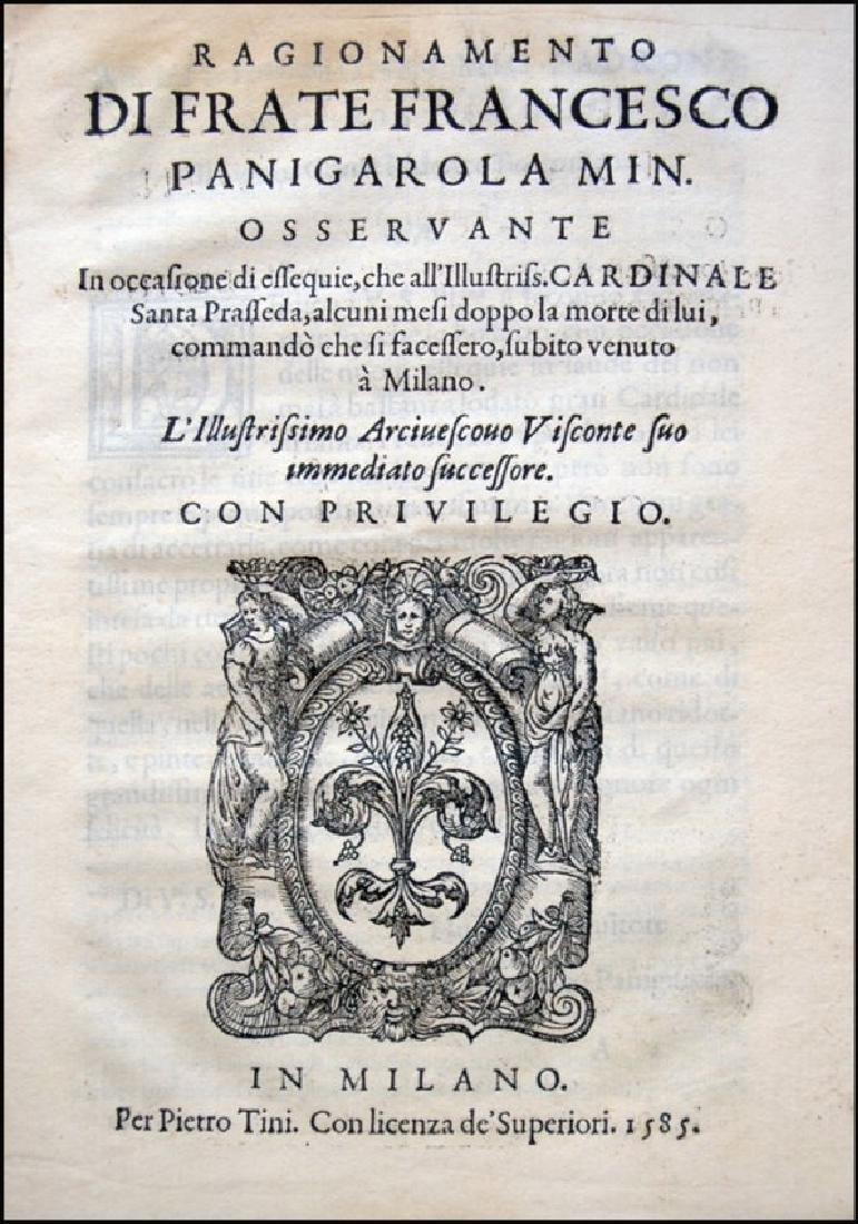 [Funeral Orations, St. Charles] Panigarola, 1585