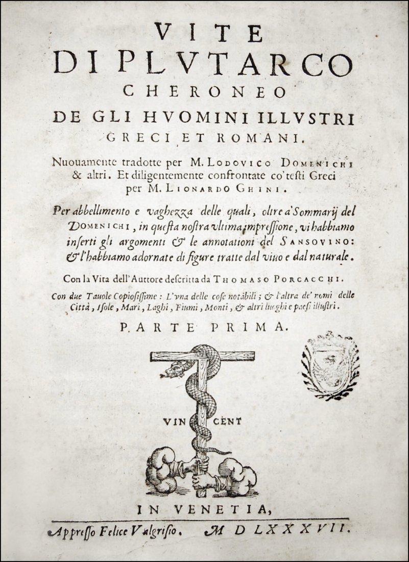 [Biographies] Plutarchus, Uomini illustri 1587 1st part