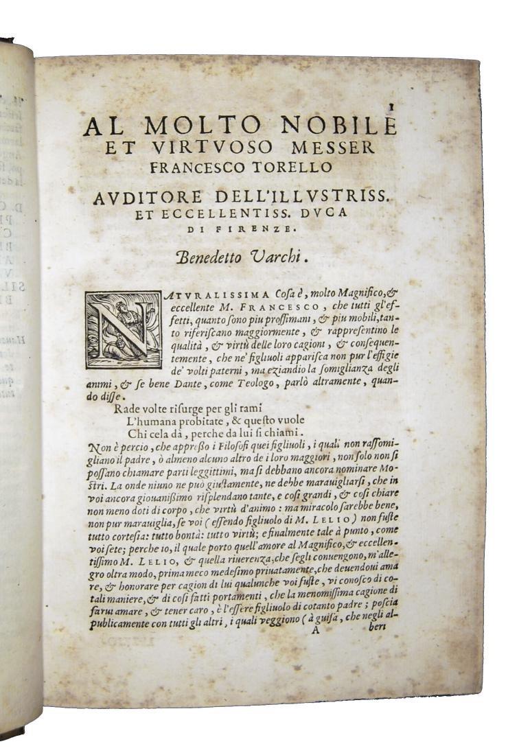 [Erudition, Philosophy, Poetry] Varchi, Lezzioni, 1590 - 4