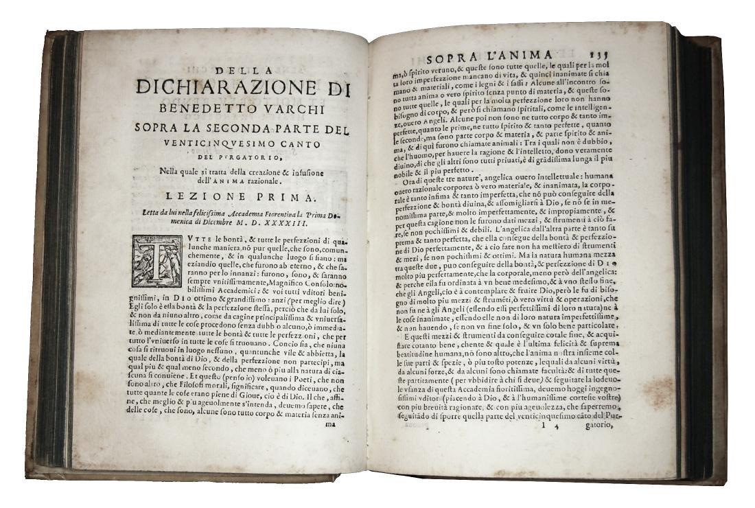 [Erudition, Philosophy, Poetry] Varchi, Lezzioni, 1590 - 5