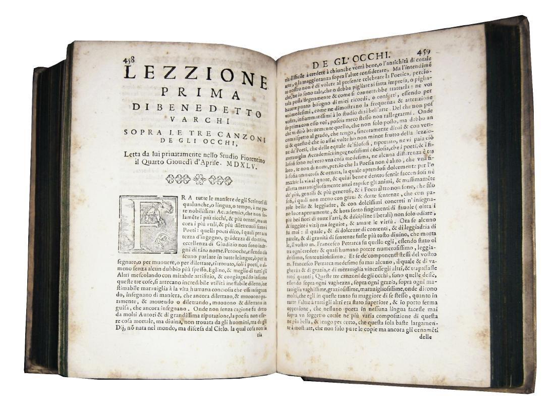 [Erudition, Philosophy, Poetry] Varchi, Lezzioni, 1590 - 6