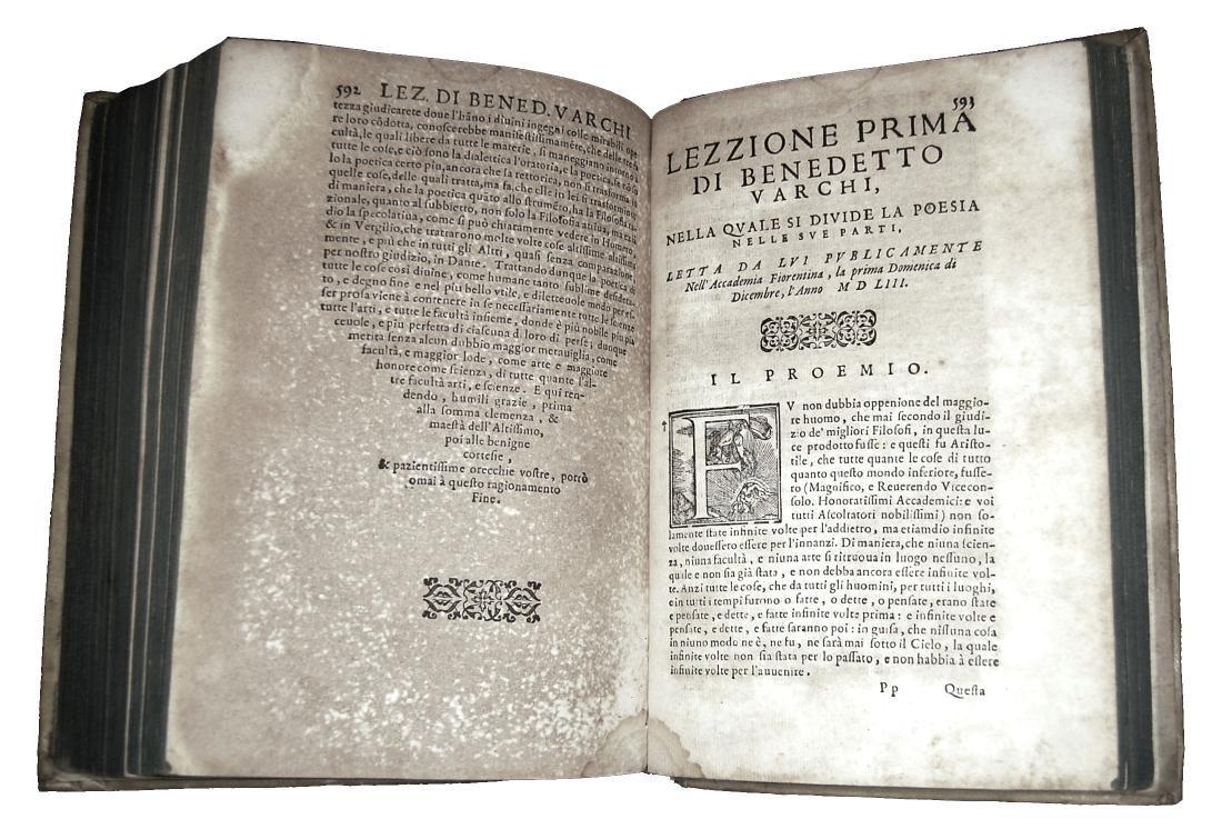 [Erudition, Philosophy, Poetry] Varchi, Lezzioni, 1590 - 7