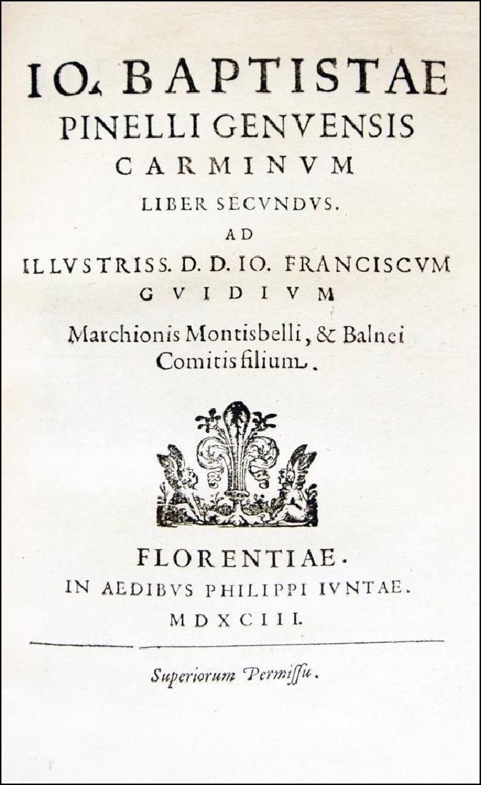 [Poetry, Genoa] Pinelli, Carminum, 1593