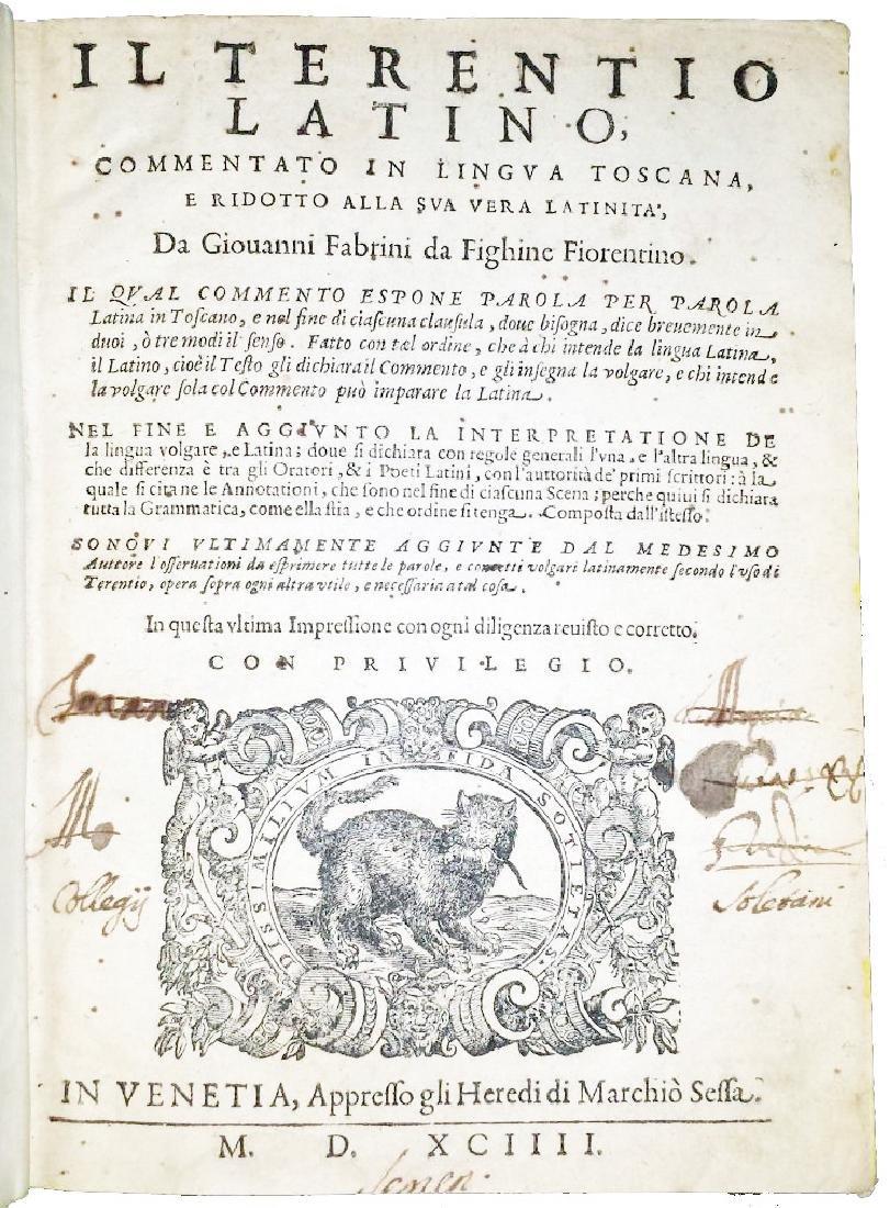 [Classics, Comedies] Terentius, 1594