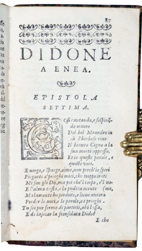 [Latin Poetry, Love Letters] Ovidius, Epistole, 1607 - 2