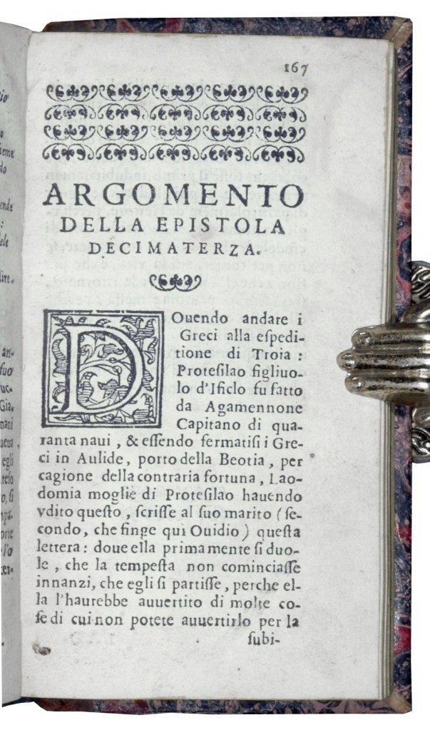 [Latin Poetry, Love Letters] Ovidius, Epistole, 1607 - 3