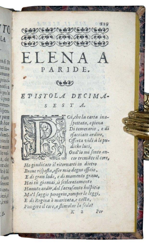 [Latin Poetry, Love Letters] Ovidius, Epistole, 1607 - 4