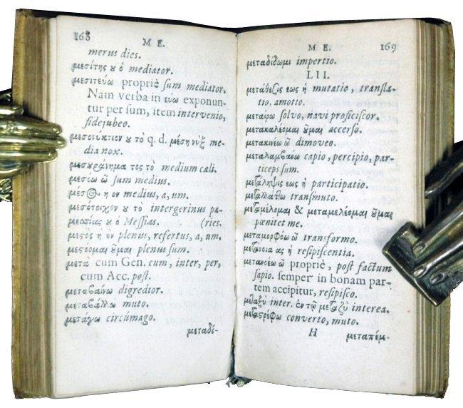 [Gospels, Glossary, Greek, Elzevier] Pasor 1632-64, 2 v - 4