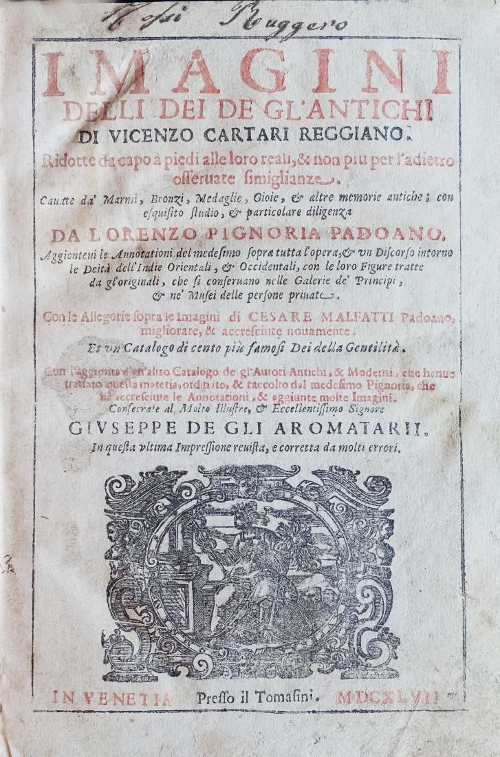 [Religion, Illustrated Book] Cartari, Immagini degli