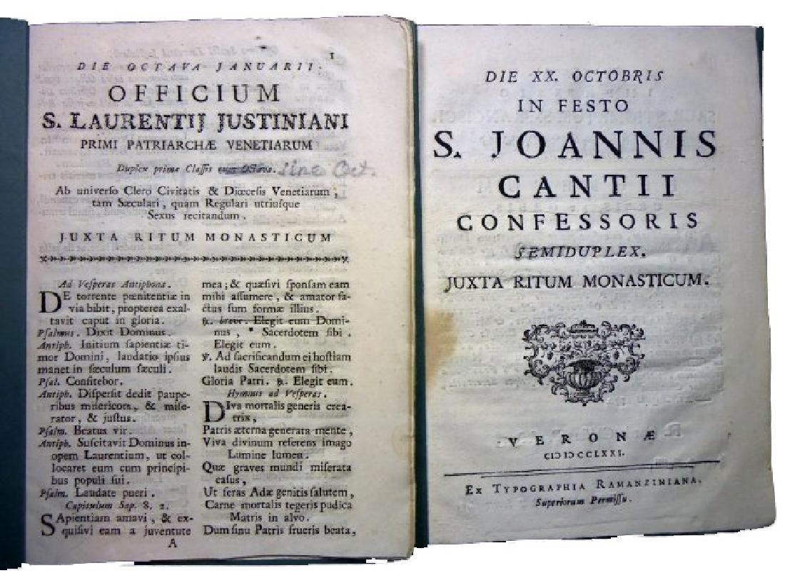 [Saints' Feasts] 19 plaquettes, 18th century - 10