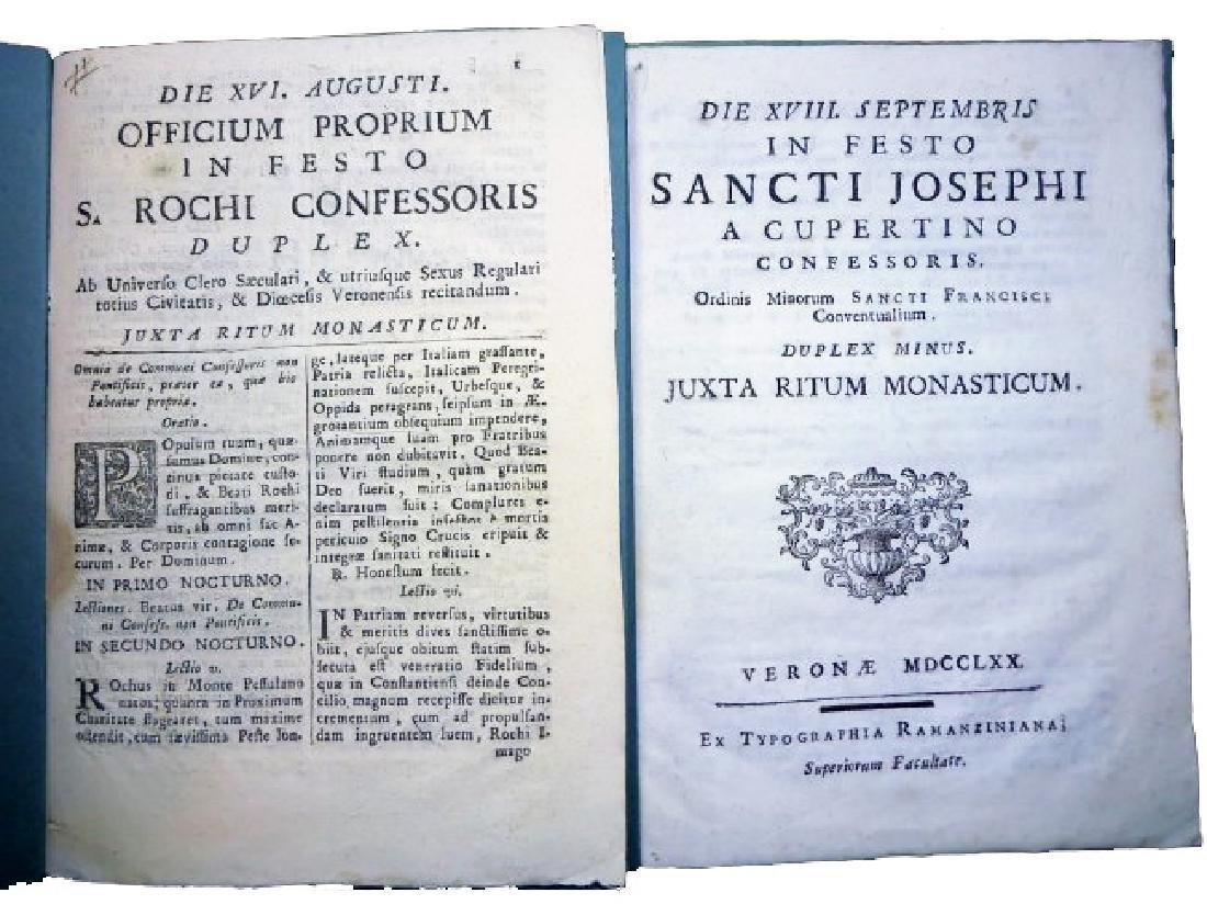 [Saints' Feasts] 19 plaquettes, 18th century - 6