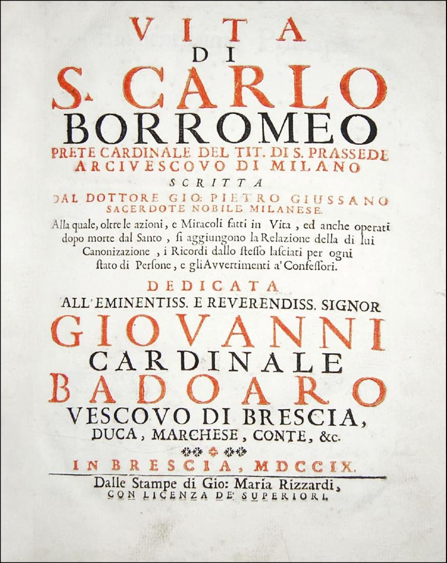 [Saints, Lives, St. Charles Borromeo, Milan] Giussano