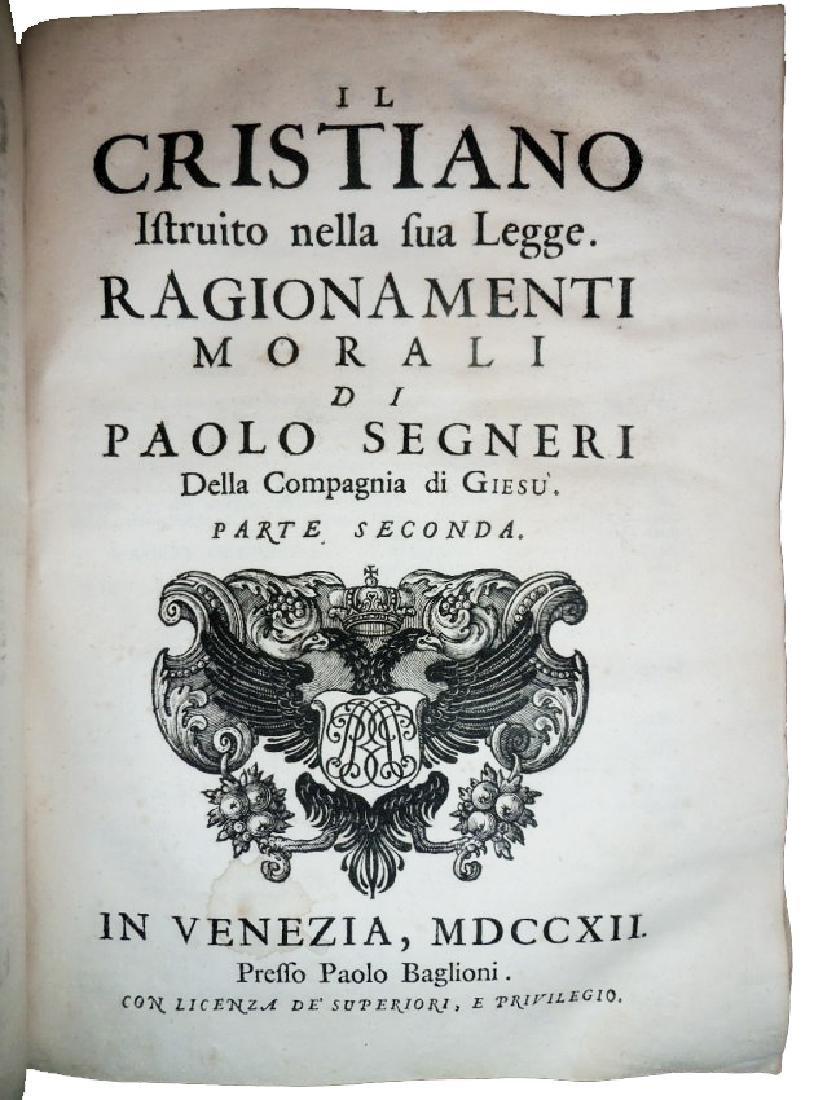 [Jesuits, Sources] Segneri, Opere, 1712 - 10
