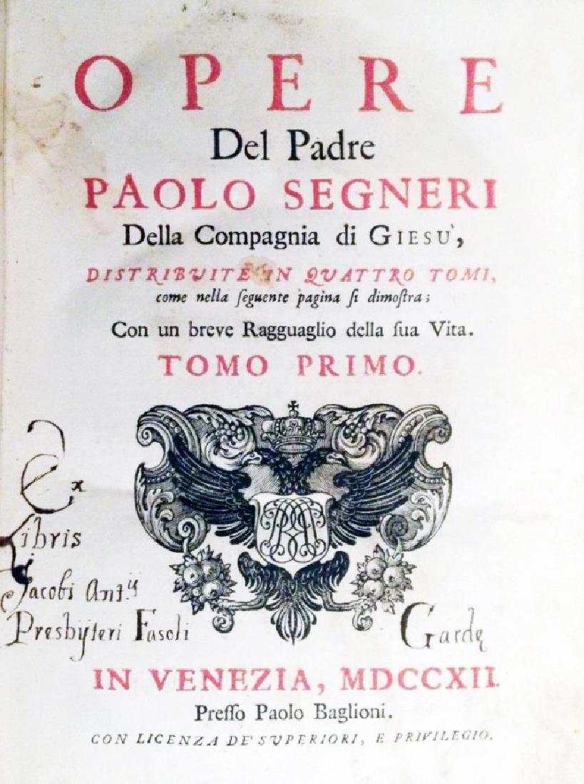 [Jesuits, Sources] Segneri, Opere, 1712 - 2
