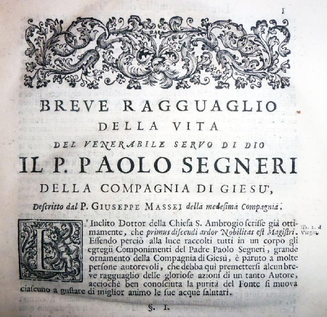 [Jesuits, Sources] Segneri, Opere, 1712 - 3